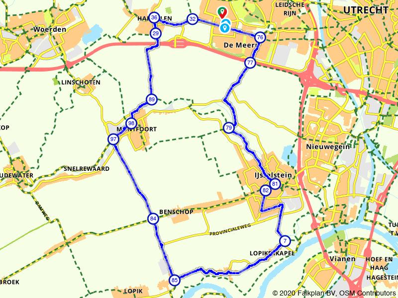 Vleuten Harmelen Montfoort Graaf IJsselstein   41 km