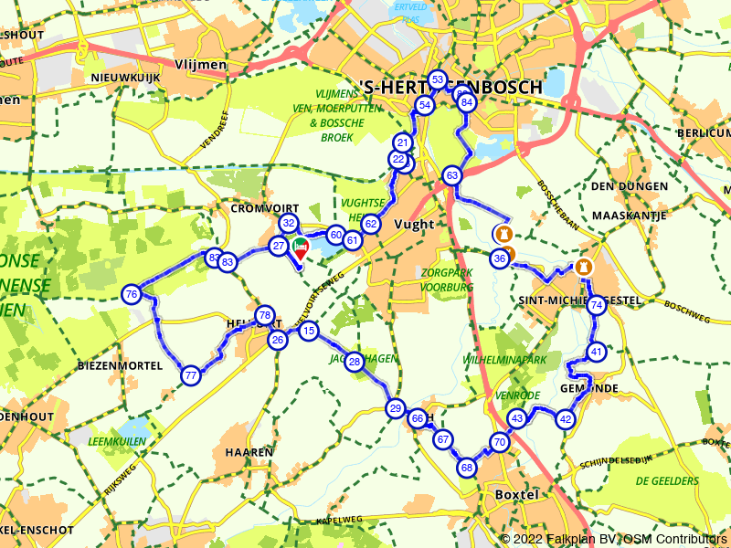Kastelenrondje Den Bosch en Loonse Drunense Duinen