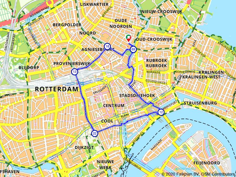 Rondje Oude Haven, Leuvehaven en Centraal Station