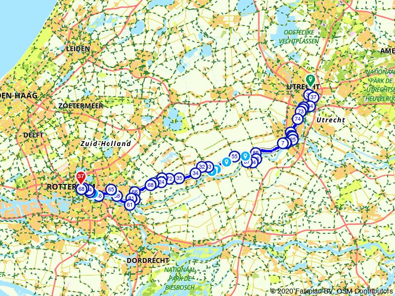 Utrecht naar Rotterdam, Boerenroute
