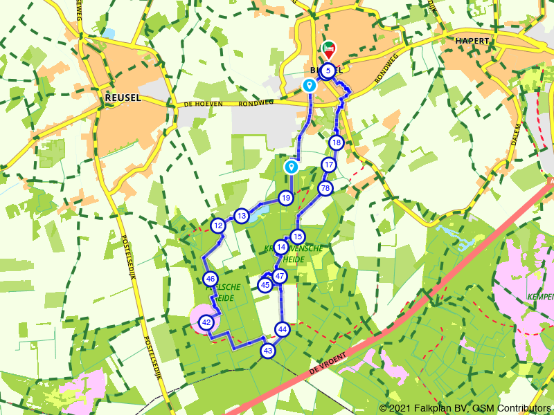 Rondje Kroonvense en Peelse Heide