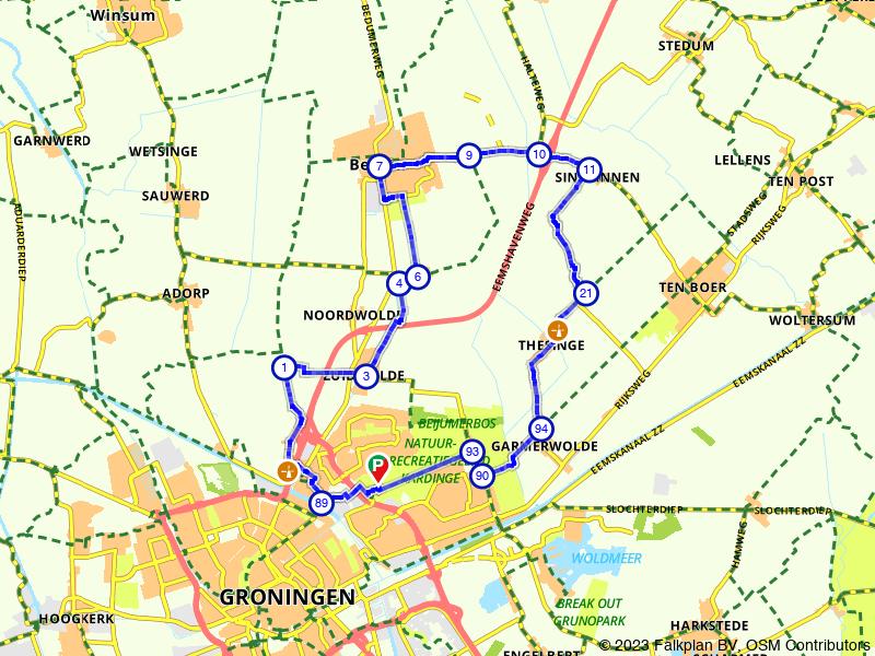Een ommetje buiten Groningen