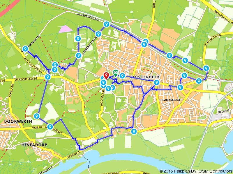 Airborne Wandeltocht - individueel 10 km (rood)