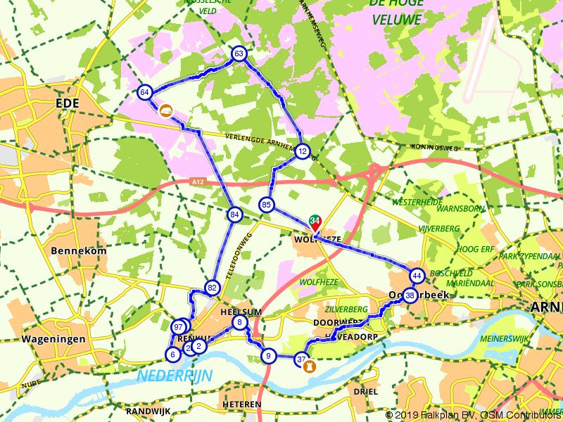 Fietsen over de Ginkelse Heide en langs de Rijn