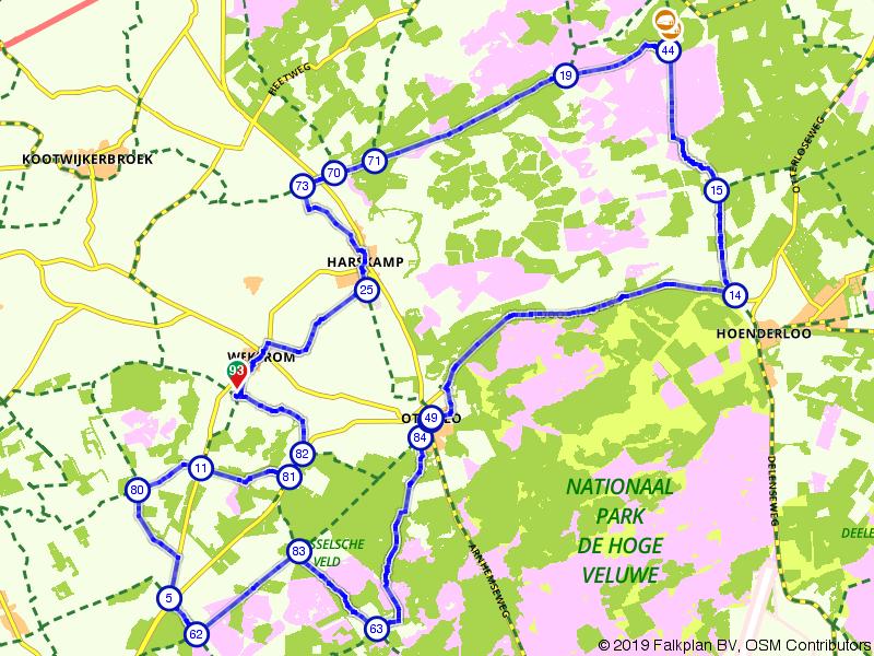 Over de heidevelden van de Veluwe
