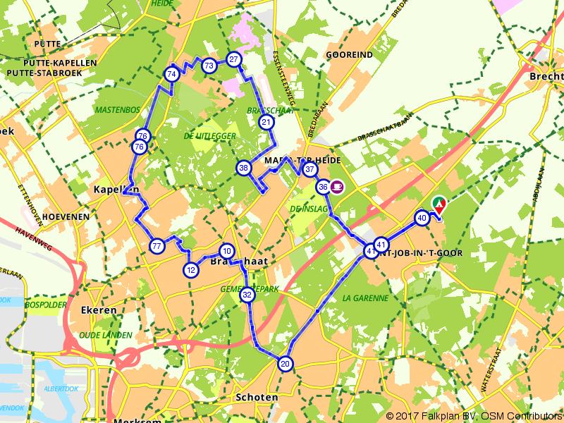 De groene gordel van Antwerpen