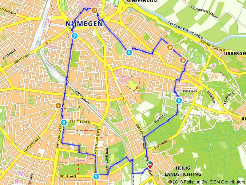 Door de mooie stad Nijmegen