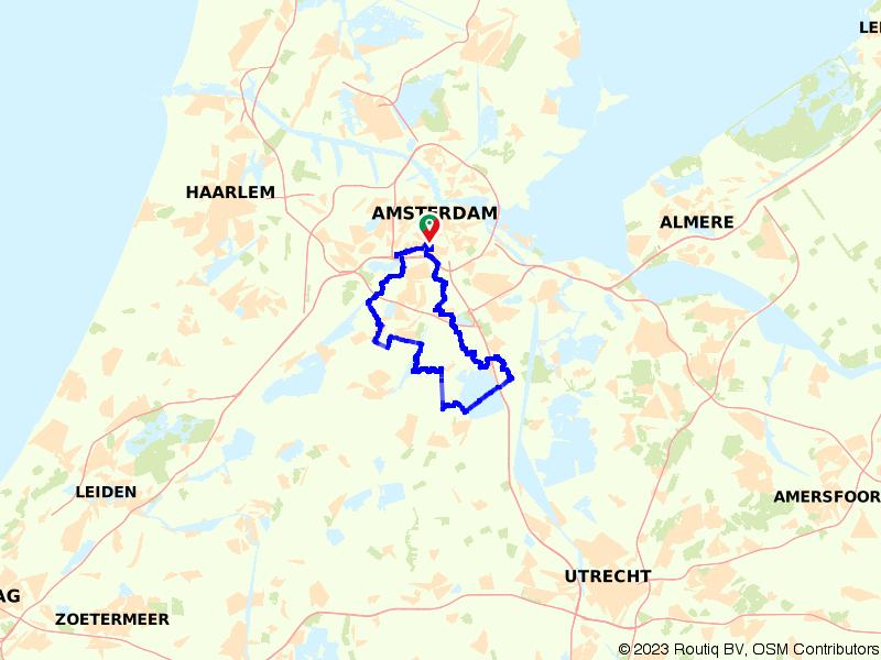 Vanuit Amsterdam-Zuid naar Vinkeveen