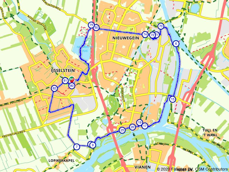 Korte route IJsselstein
