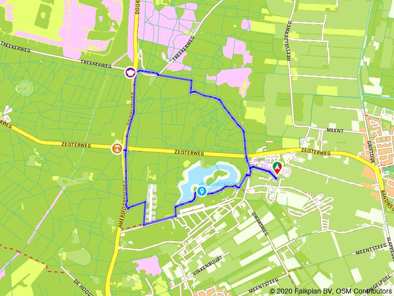 Vanaf Camping en Kampeerboerderij 't Boerenerf naar Pannenkoekenhuis Bergzicht
