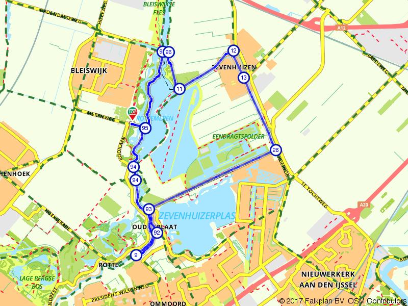 Rottemerenroute (kort)