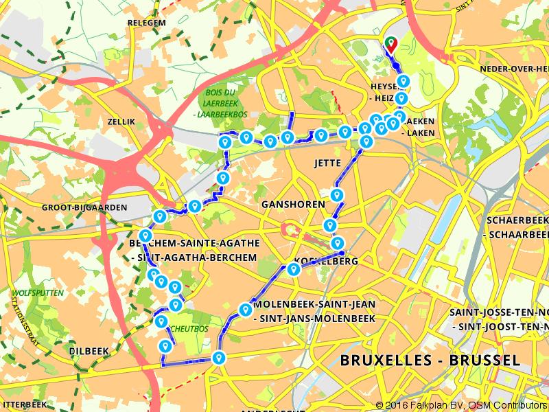 Beau vélo de RAVeL Bruxelles