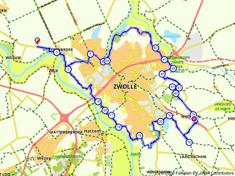 Rondje Zwolle: fietsen langs het water
