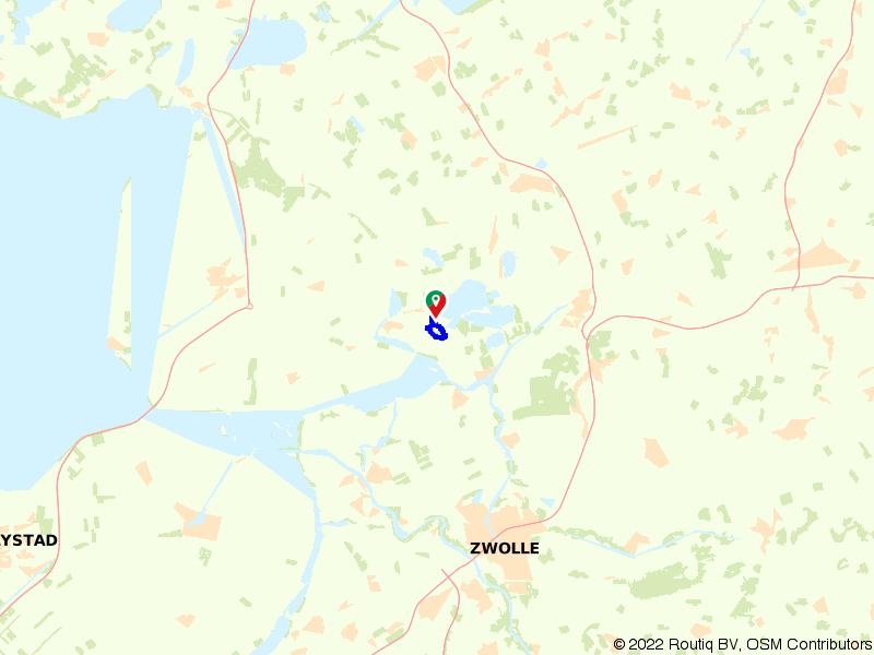 Molenroute St. Jansklooster en bezoekercentrum de Wieden