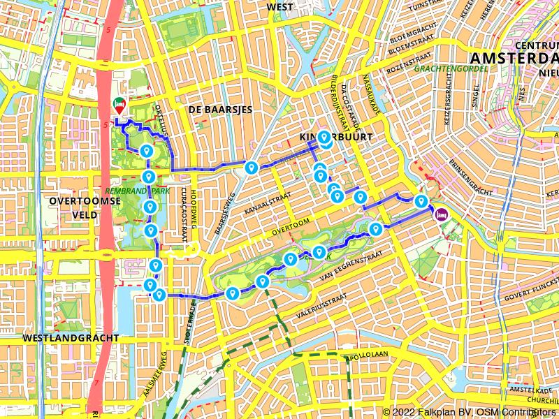Picknickroute De Hallen, Vondelpark en Rembrandtpark