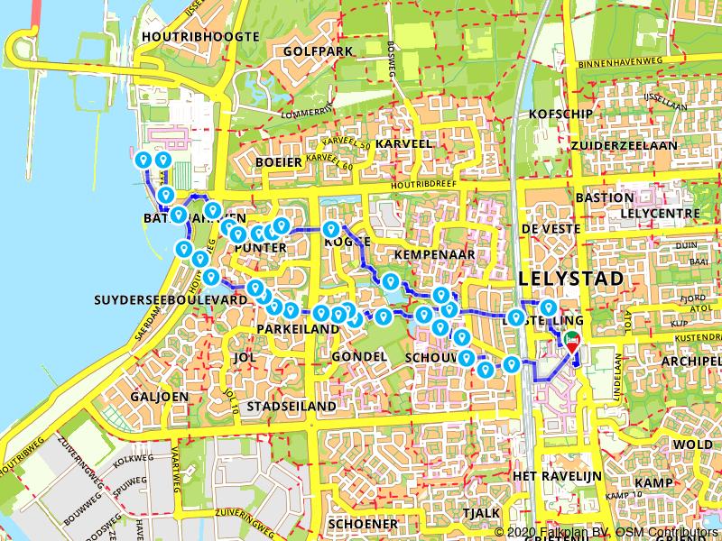 Rondje Lelystad en Batavialand