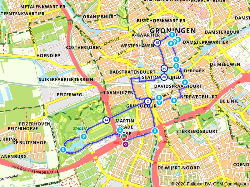Stadswandeling Groningen: door Stadspark en centrum