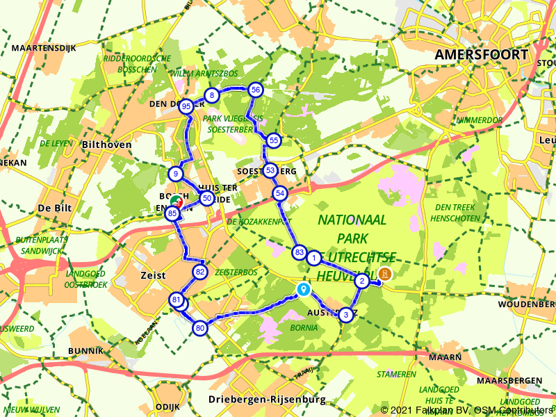 Rondje Vliegbasis Soesterberg en Piramide van Austerlitz