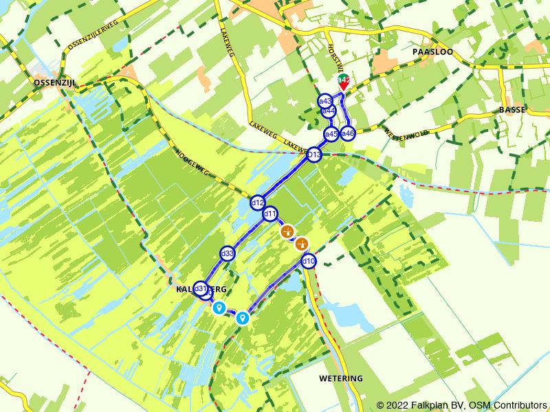 Molenroute Kalenberg en Weerribben vanuit Paasloo
