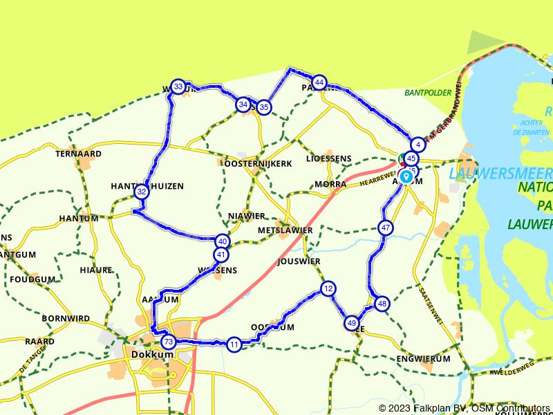 Rondje Wad Oars, Waddenzee en Dokkum