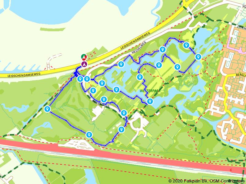 Een achtje door het Westerpark bij Zoetermeer