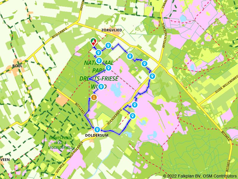 Rondje Drents Friese Wold: Doldersum en Zorgvlied