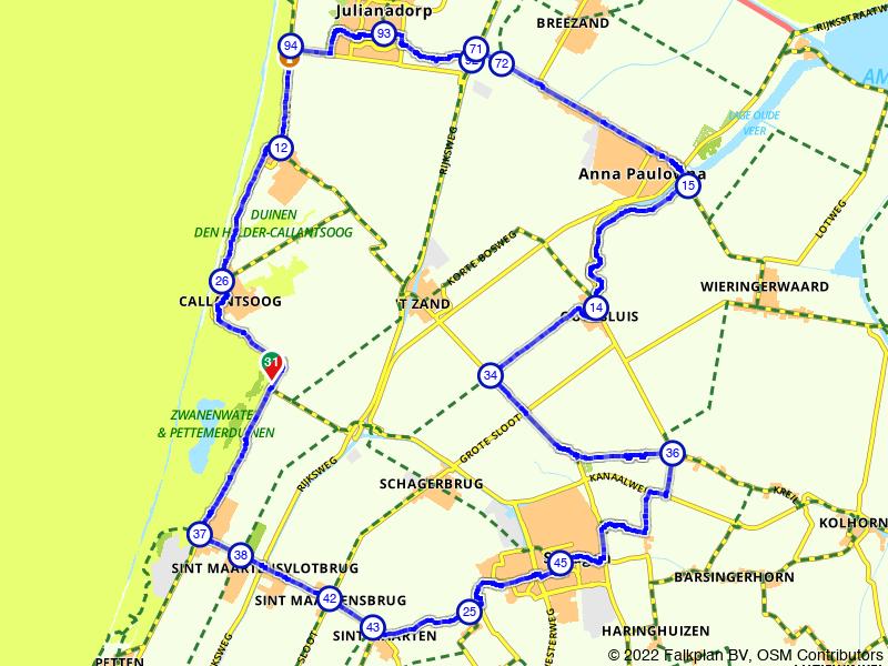 Rondje Callantsoog en Schagen vanuit Sint Maartenszee