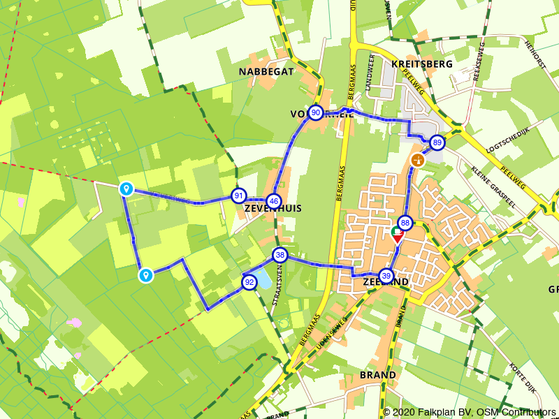 Rondje wandelen van Zeeland naar Maashorst