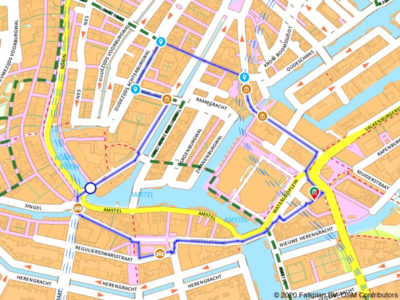 test route amsterdam wandelen
