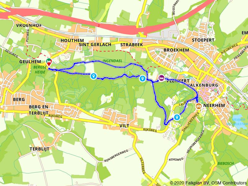 Rondje Ingendael, Geul en Kasteel Valkenburg