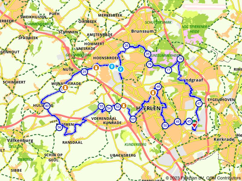 Kastelenroute Heerlen: naar Kasteel Wijnandsrade