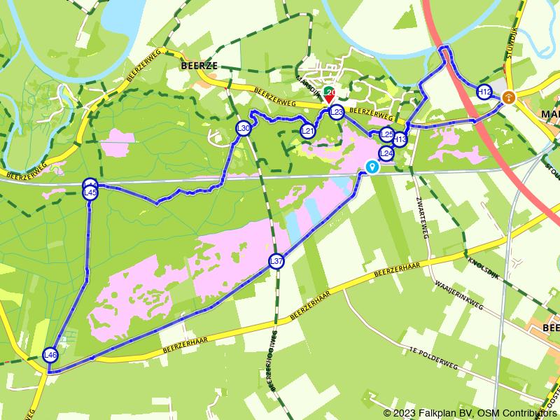 Rondje Beerzerzand, Vecht en Hut Mariaborch