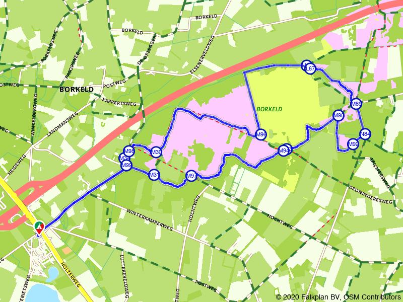 Rondje Elsenerveen, De Borkeld en Friezenberg