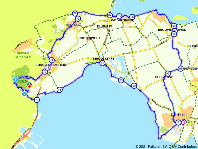 Grote ronde Zierikzee vanuit Burgh-Haamstede