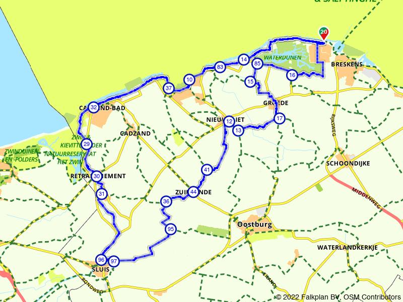 Rondje West-Zeeuws-Vlaanderen vanuit Vlissingen