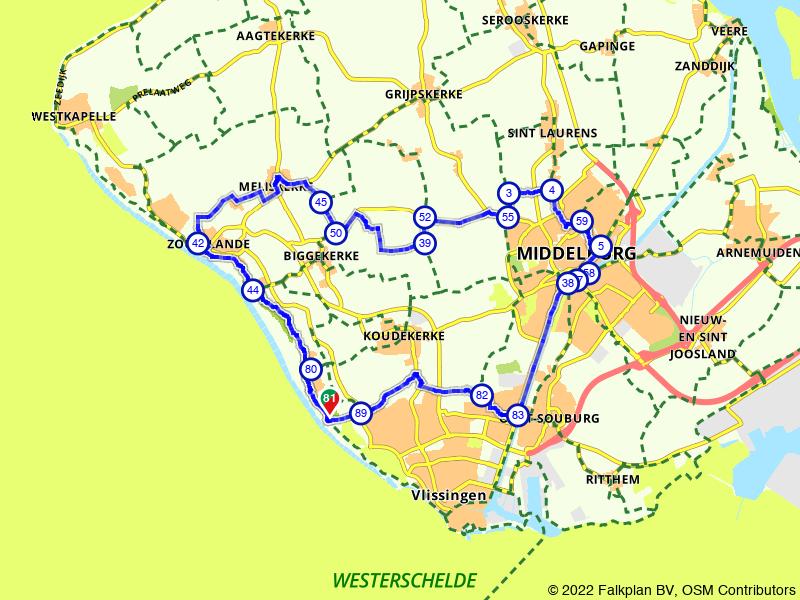Rondje Zoutelande en Middelburg vanuit Vlissingen