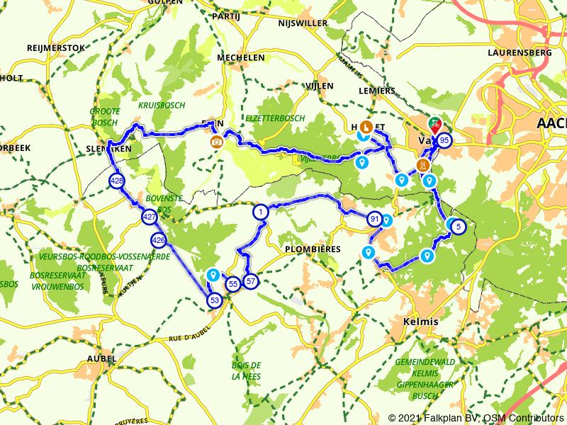 Rondje Drielandenpunt en Slenaken vanuit Vaals