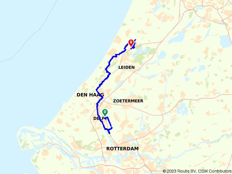 Van Delft naar Sassenheim