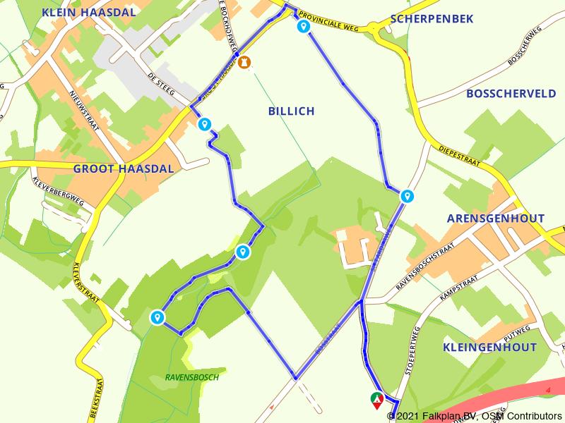 Rondje Ravensbosch en Kasteel Bokkenheufke