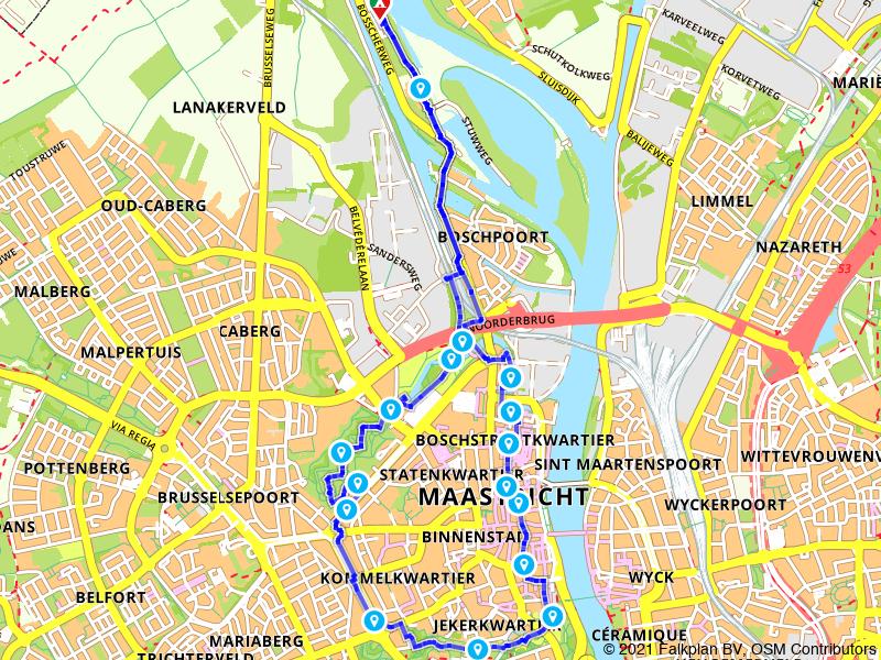 Rondje parken en Onze Lieve Vrouweplein Maastricht