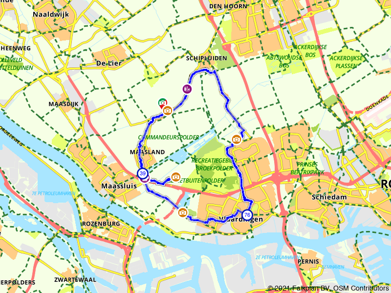 Paasbrunchfietsen - Route 5 (Maasland e.o.)