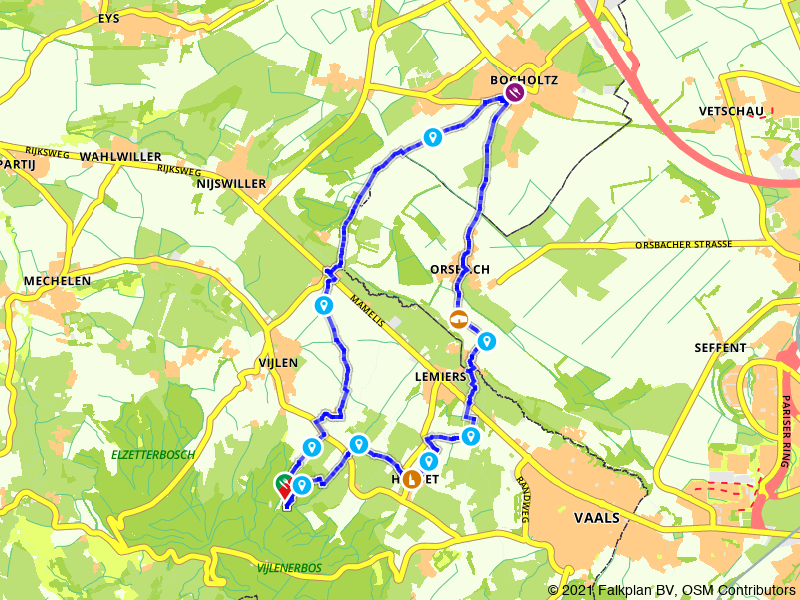 Rondje Vijlenerbos, Bocholtz en Holset