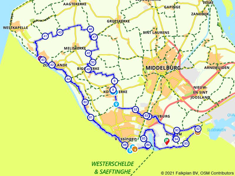 Rondje langs de kust bij Zoutelande en Vlissingen