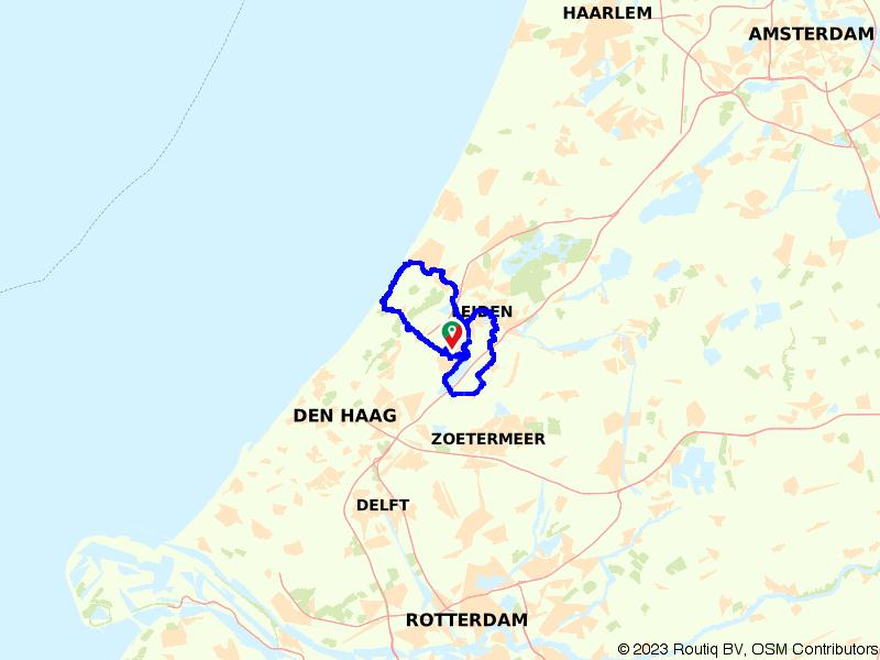 Katwijk en Leiden vanuit Voorschoten