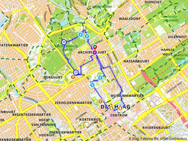 Wandelroute highlights van Den Haag