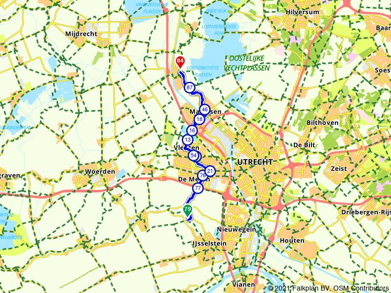 IJsselstein naar Breukelen