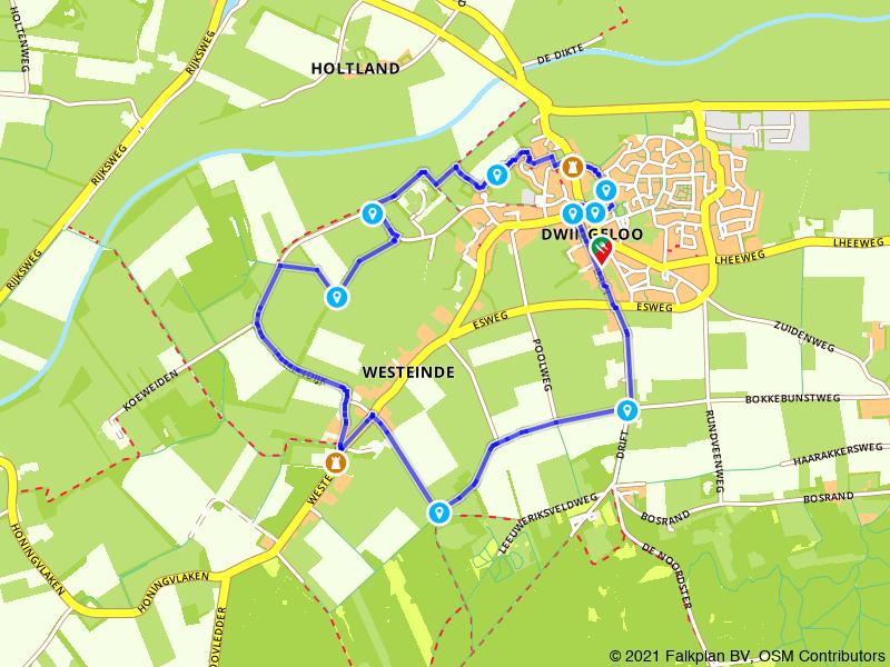 Kastelenroute:de havezaten van Dwingeloo