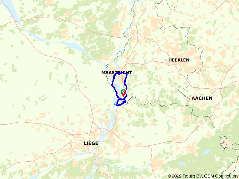 Rondje Maastricht en Maasvallei vanuit Eijsden