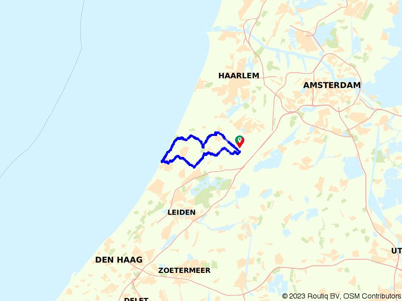 Route Lisse, Noordwijk aan Zee en Keukenhof