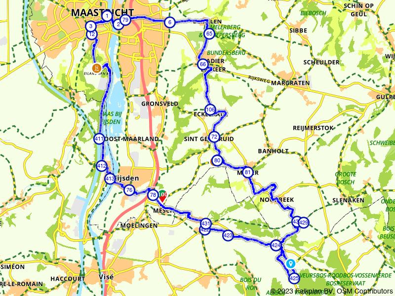 Rondje Maastricht, Sint Pietersberg en Voerstreek